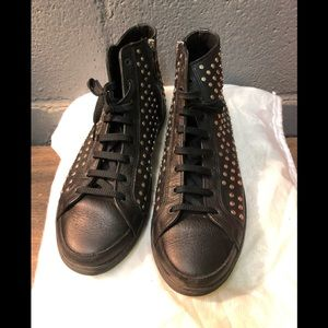 Men's Burberry High Top Fashion Sneakers